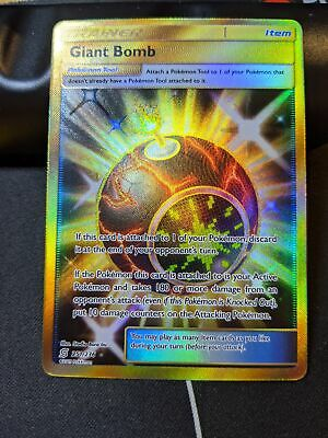 Giant Bomb Secret Rare NM Unified Minds 251//236 Pokemon TCG