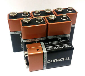 6 x 9 volt 9v duracell coppertop duralock alkaline. Black Bedroom Furniture Sets. Home Design Ideas