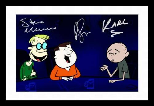 AN IDIOT ABROAD CAST AUTOGRAPHED SIGNED /& FRAMED PP POSTER PHOTO