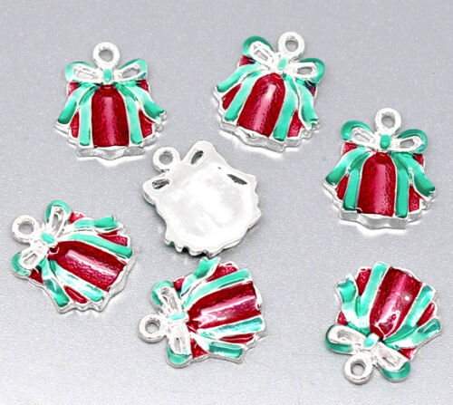 10pcs//20pcs Metal encanto Colgantes Navidad Navideños Plateado Plata