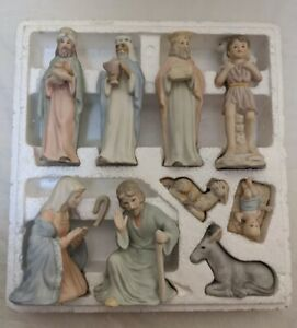 Vintage-1983-Lefton-The-Christopher-Collection-9-Piece-Nativity-Set-00350-Taiwan