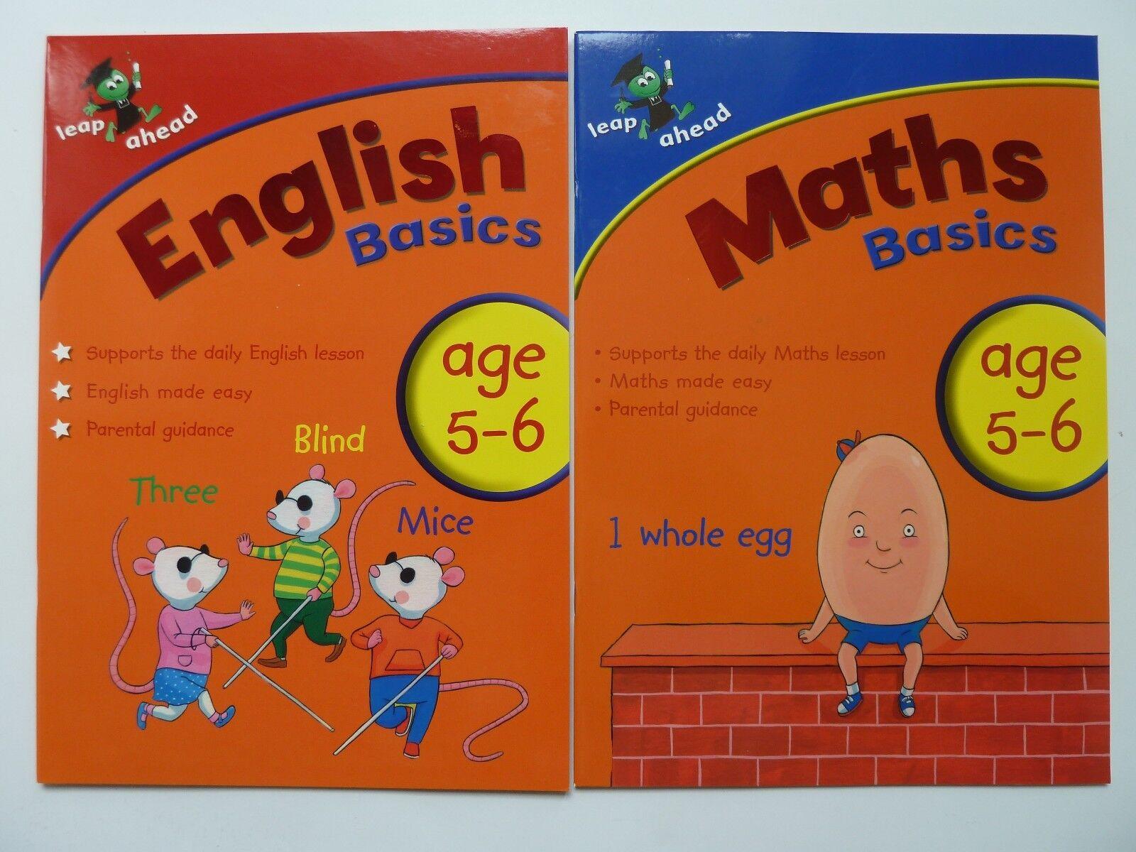 0616849f2 LeapAhead Learning English Maths Educational Workbooks Kids Ages 5-6 ...