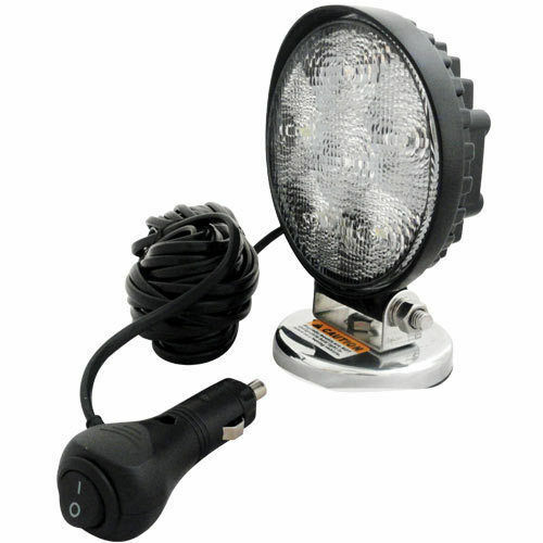 "BRAND NEW  4/""MAGNETIC WORK LAMP FLOOD LIGHT WHITE LED  12V-28V CA 5707 PRE WIRED"