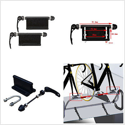 2p Car Pickup Bike Block Quick-release Alloy Fork Mount Rack Carrier Holder Trim