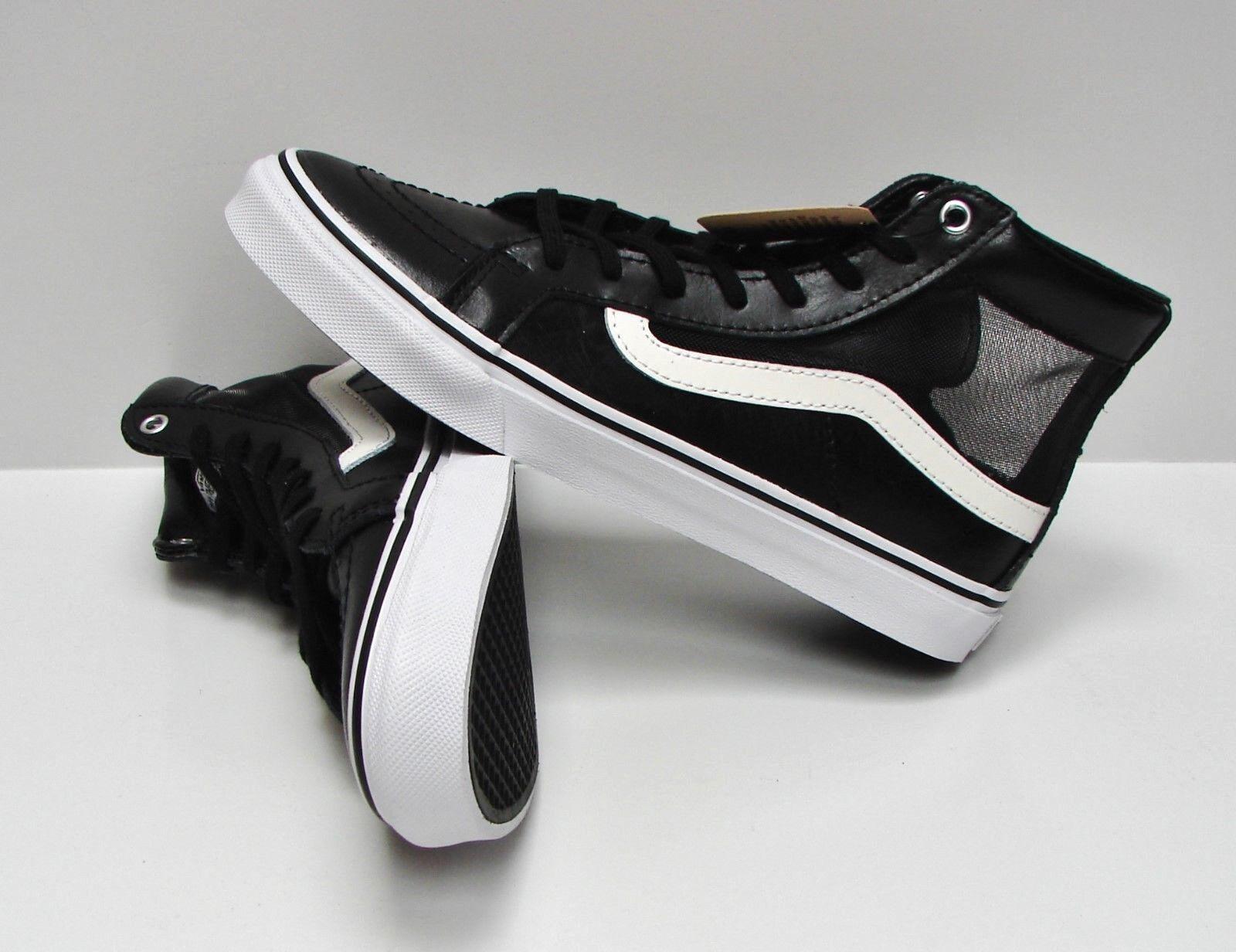 Vans SK8 Hi Slim Cutout Mesh Black/White Women's Size 6.5