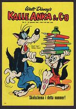1966 SWEDISH KALLE ANKA & C:O DONALD DUCK COMIC #21 LIL & BIG BAD WOLF COVER NM-