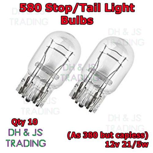 10 x 580 Rear Brake Light Bulbs Car Auto Bulb Mitsibushi Evo 7 8 9 VII VIII XI