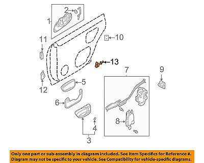 OEM 2009-2013 Subaru Forester Right Passenger Side Hood Hinge NEW 57260SC0009P