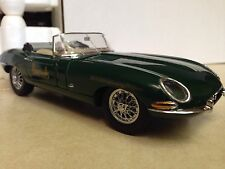 1/24 Franklin Mint British Green 1961 Jaguar XKE Roadster Harrods B11ZG23
