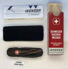 Wenger Esquire Buffalo Horn Swiss Army knife- NIB vintage rare
