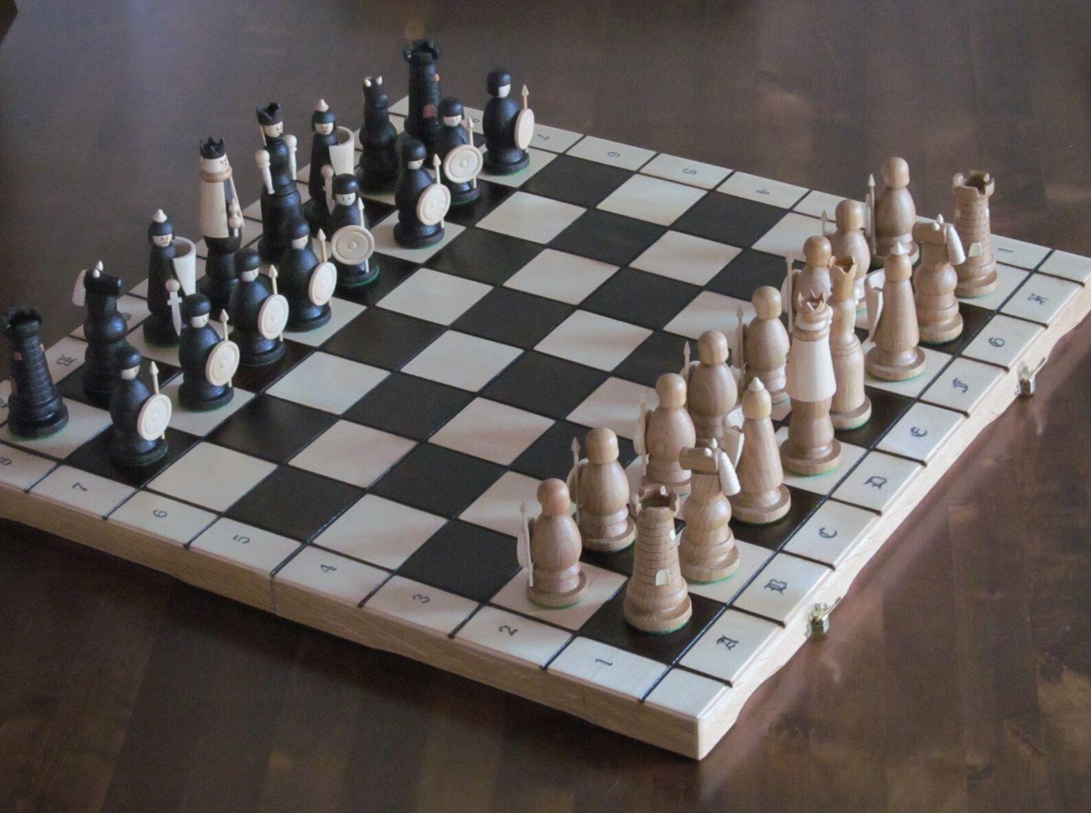 Nouvelle marque de luxe ♚ magnat artisanal jeu d'échecs en bois 56cmx56cm ♞