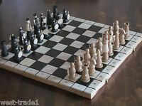 Brand New♚ Luxury Magnat Hand Crafted Wooden Chess Set 56cmx56cm ♞