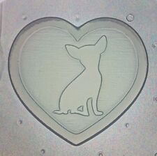 """Flexible Mold """"I Heart My Chihuahua"""" Dog Resin Or Chocolate Mould"""