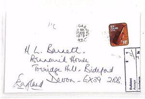 Ouvert D'Esprit Xx45 1979 Nouvelle-zélande * - Invercargill * Sous-payés Couverture * 11 C Affranchissement Manquant * Gb-afficher Le Titre D'origine Techniques Modernes