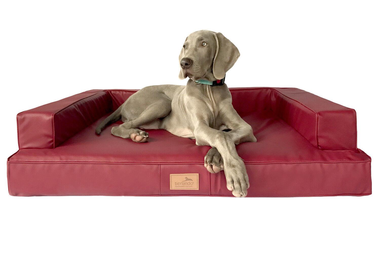 Tierlando ® design ortopedico per cani Divano Divano Divano Gibson Visco ecopelle forma cubica 07925e