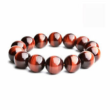 14mm Tiger Eye Beads.100%Natural.Yellow/Red. Men & Women. Grounding & Protection