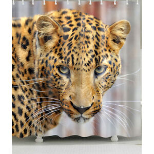 Image Is Loading 1 Pc Waterproof Leopard Shower Curtain For Home