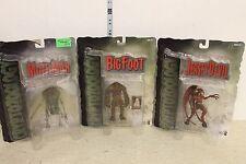 Mezco Cryptozoology Figure Set of 3 Bigfoot, Moth man, and Jersey Devil