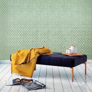 Modern-Wallpaper-green-metallic-geometric-diamonds-lines-embossed-wallcoverings