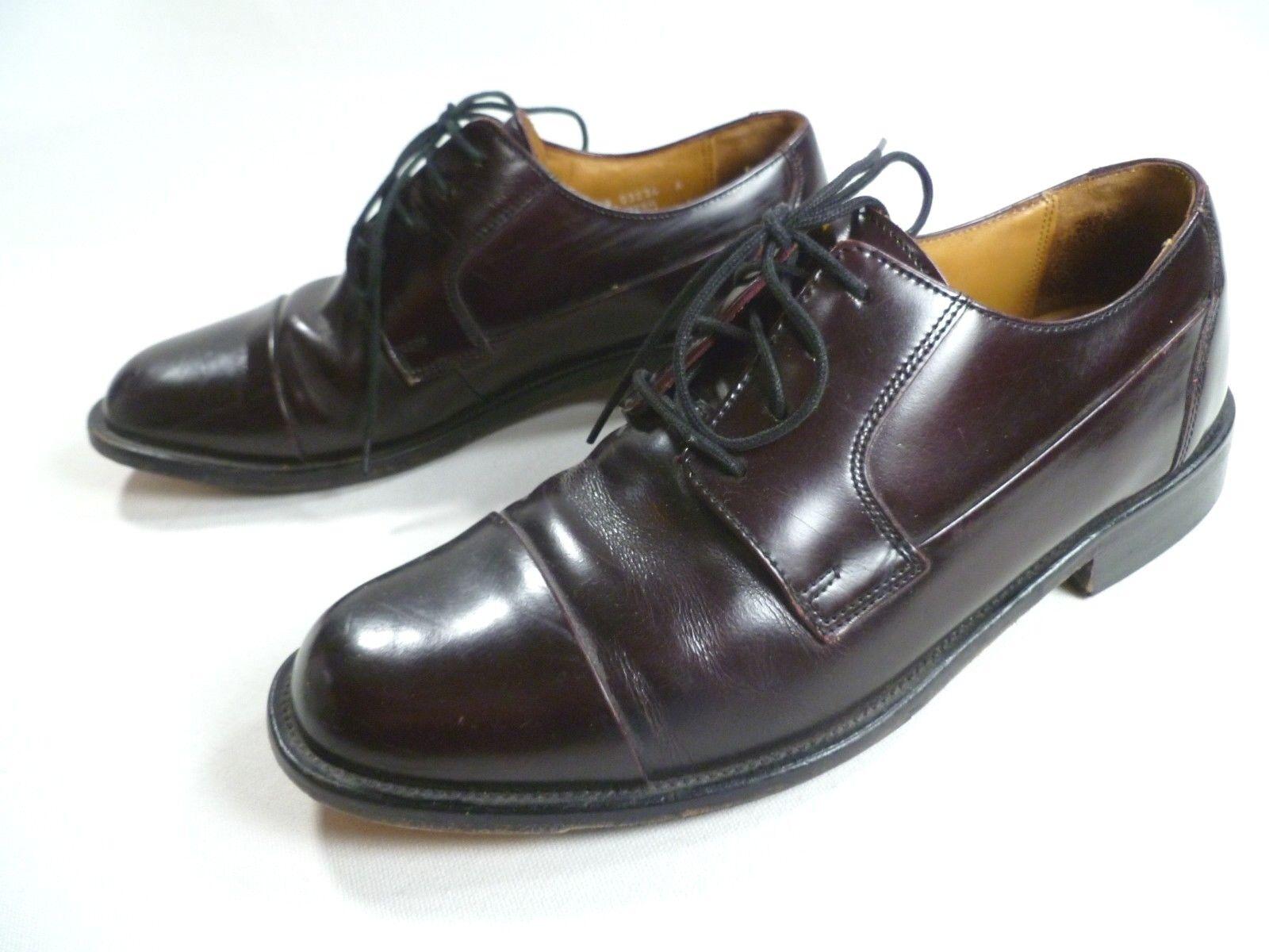 Bostonian Men's Size 8M Tahoe Leather Upper Toe Dress shoes Burgundy