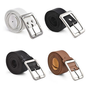 Men-039-s-Casual-Genuine-Leather-Dress-Belts-Pin-Buckle-Waist-Strap-Belts-Waistband