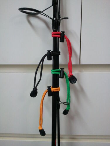 4 x Fishing Rod Ties Ultimate Stretch Cord GREAT HOLIDAY GIFT FOR THE ANGLER