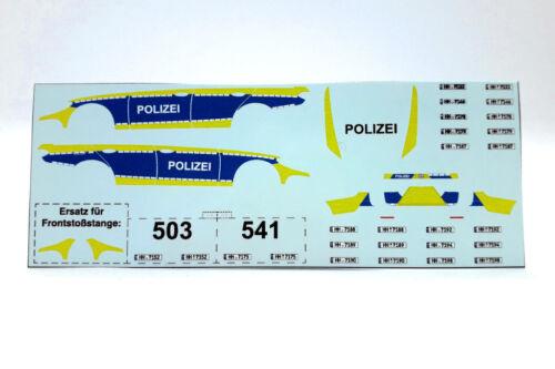 Decals 1:87 H0 Polizei Hamburg Mercedes E-Klasse S213 VESBA,für Wiking Eigenbau