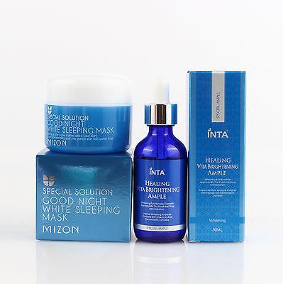 1+1 Mizon Good Night White Sleeping Mask + Inta Healing Vita Brightening Serum