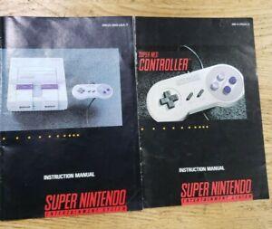 Super-Nintendo-Instruction-Manual-controller-manual-ONLY-SNES-Booklet-nes