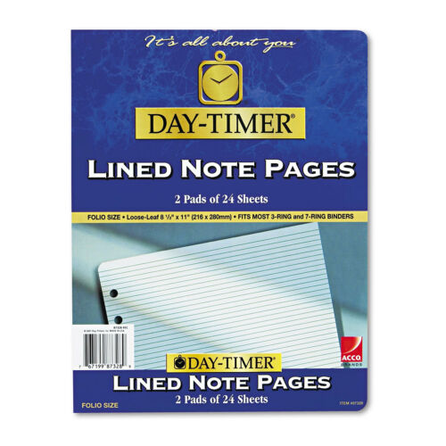 Day-Timer Lined Pages 8 1//2 x 11 87328