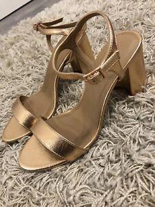 Gr38 Neu Goldene Sandalen Details Zu Riemchen Mit thdsCQxorB