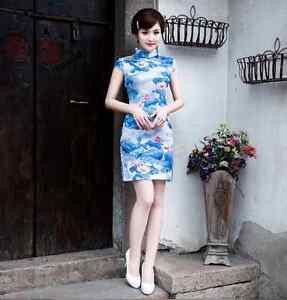 d2e64f15cef3b1 Image is loading Traditional-Chinese-Oriental-Cheongsam-Cheong-Sam-Qipao -white-