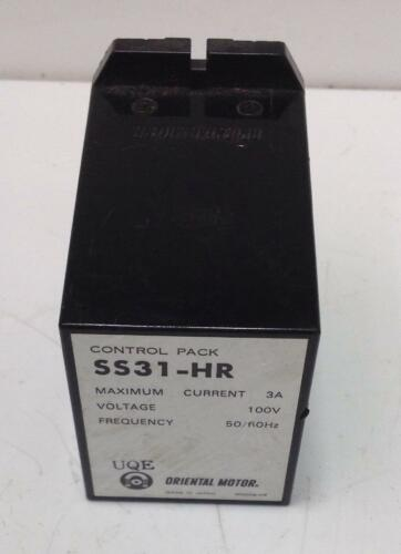 ORIENTAL MOTOR CO. 3A 100V CONTROL PACK SS31-HR
