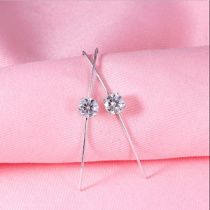 14K-White-Gold-FN-2-20-Ct-Round-Gorgeous-Cut-Moissanite-Drop-Dangle-Hook-Earring