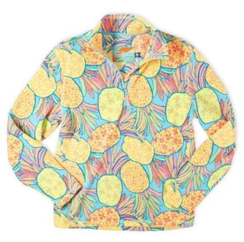 CHUBBIES Pineapple Printed Pullover Fleece Jacket