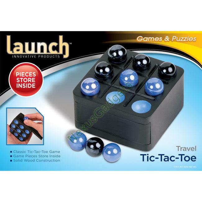 TIC Tac Toe Madera Juego De Mesa Juego De Viaje Mini TicTacToe Negro (Paquete de 24)
