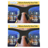 1.8 Mm Adhesive Anti-slip Silicone Butterfly Eyeglass Nose Pads Black (2 Pair)