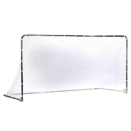 Silver 6/' x 12/' Franklin Sports Folding Steel Soccer Goal