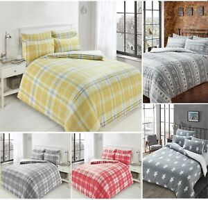 New-Printed-Teddy-Fleece-Duvet-Cover-Soft-Warm-Quilt-Set-Cosy-Toes-Fleece-Panels