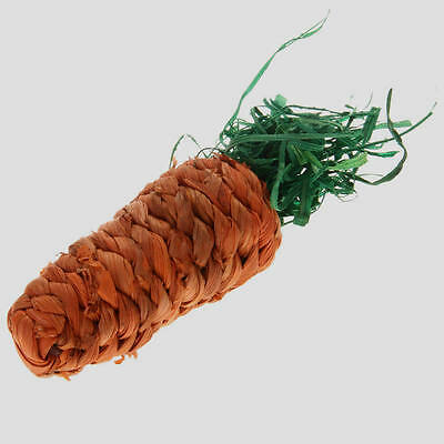 Pet Chew Play Toy Straw Carrot for Hamster Guinea Pig Rabbit