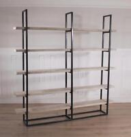 rustic industrial reclaimed wood shelving unit bookshelf. Black Bedroom Furniture Sets. Home Design Ideas