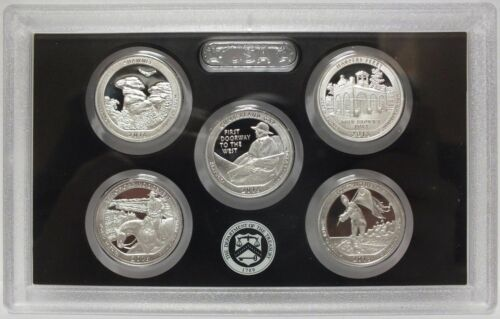 2016 US MINT 5 COIN AMERICA the BEAUTIFUL 90/% SILVER PROOF QUARTER SET