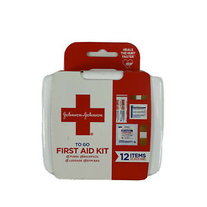 JOHNSON & JOHNSON First Aid To Go Kit 12 Items New
