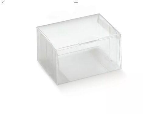 10 x Clear Luxury transparent PVC Box 80mm x 60mm x 40mm