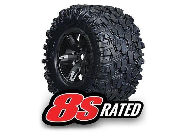 Traxxas at-neumáticos en llanta montado, pegado X-Maxx Rated 8s (2) - 7772x
