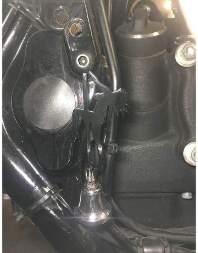 Gloss Black Stripper Bell Hanger Mount for Motorcycle Bolt /& Ring Included