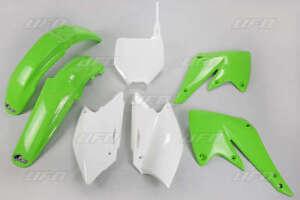Kit-plastiques-UFO-origine-blanc-vert-KAWASAKI-KXF-250-2004-2005