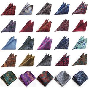 Men-s-Stylish-Floral-Paisley-Handkerchief-Wedding-Party-Hanky-Pocket-Square-HOT