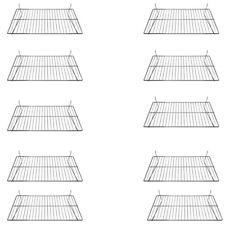 10 Pc 24 X 12 Inch Pegboard Wire Flat Grid Shelf Retail Display Fixture