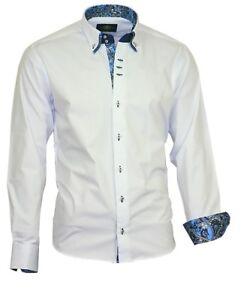 Binder-de-Luxe-Herren-Hemd-Shirt-Polo-Doppelkragen-Herrenhemd-81708-weiss-Camicia
